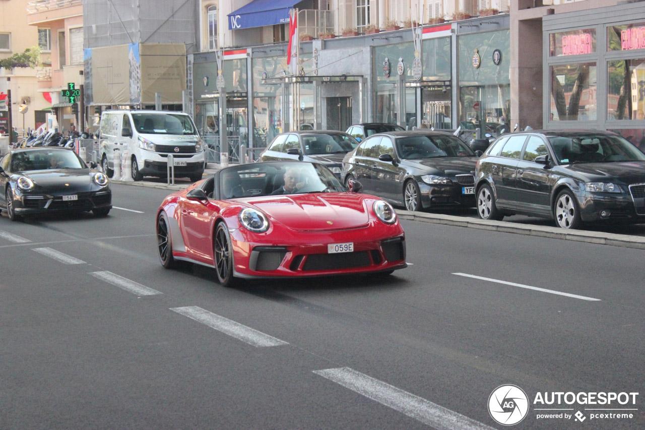 Porsche 991 Speedster staat prachtig in Monaco