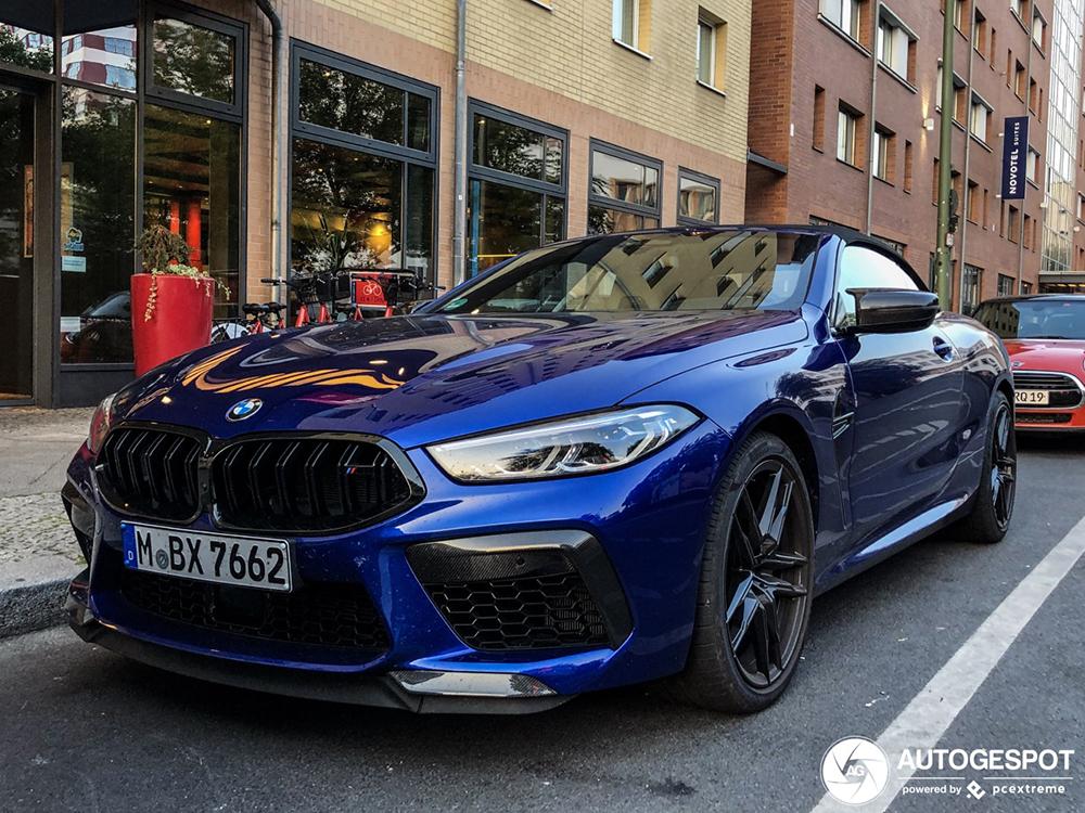 Voor de tweede keer gespot: BMW M8 Convertible Competition