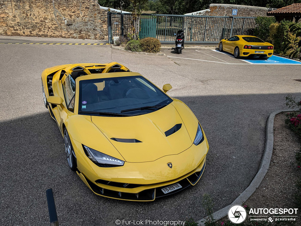 Derde Lamborghini Centenario LP770-4 Roadster gespot