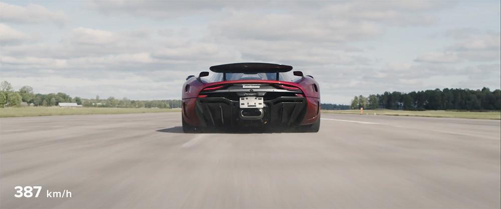 0-400-0 km/u in 31.49 seconden, Koenigsegg doet het