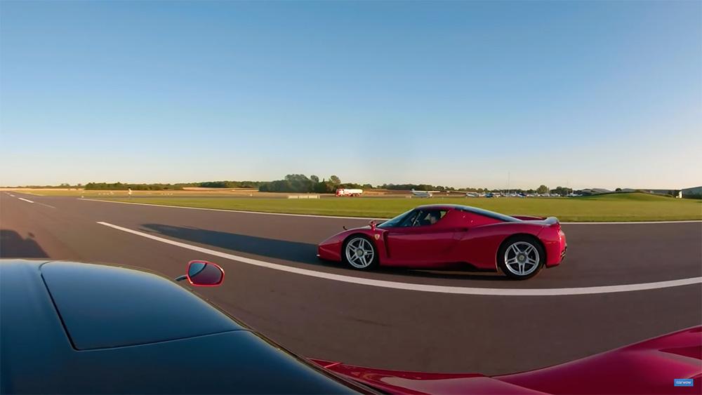 Filmpje: LaFerrari neemt het op tegen Ferrari Enzo Ferrari