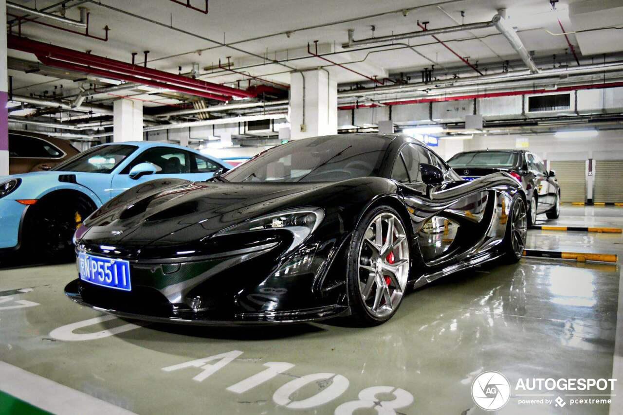 McLaren P1 is verwend door zijn eigenaar