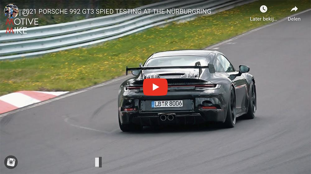 Porsche 992 GT3 voelt zich als vis in het water op Nürburgring