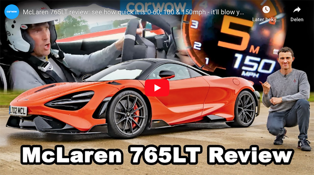 Filmpje: Carwow mag aan de McLaren 765LT proeven