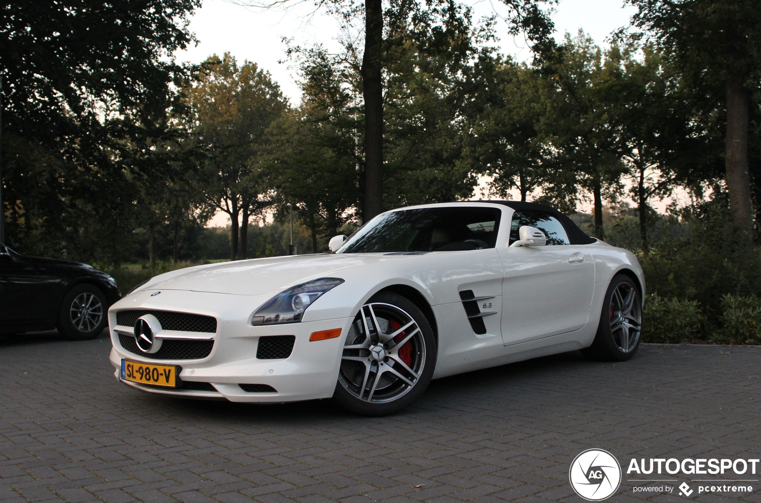 Mercedes-Benz SLS AMG Roadster had last van pleinvrees