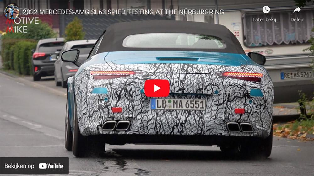 Mercedes-AMG SL 63 gesnapt op de Nürburgring