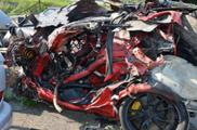 Porsche 997 GT2 RS turns to junk after horrible accident
