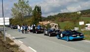 Huit Bugatti stoppées par la police française