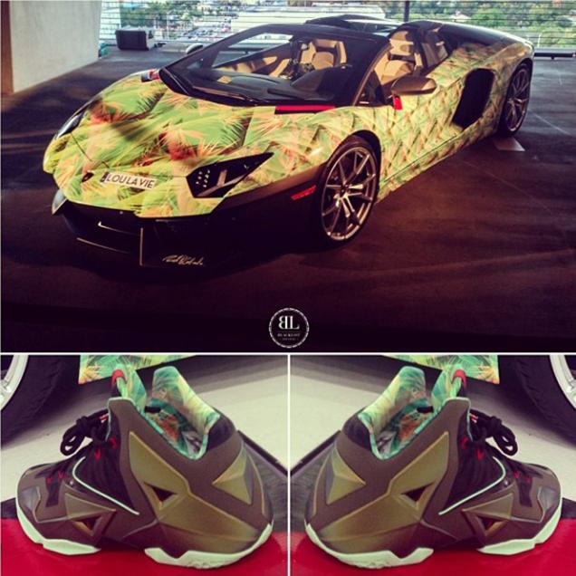 Lebron James' Lamborghini Matches His Shoes