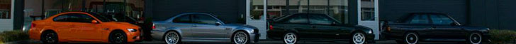 Quatro gerações do BMW M3 postas lado a lado!