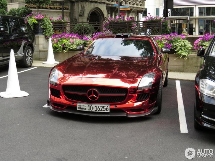 Deze Mercedes-Benz SLS AMG is een allegaartje van tuners