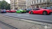 Four Italians driving around in Vienna