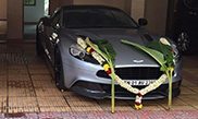 Supercars in India get decorated for the Dussehra