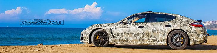 """Sessão fotográfica: Porsche Panamera Turbo S """"camuflado"""""""