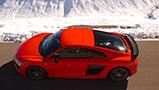 Fotoshoot: nieuwe Audi R8 V10 Plus in de Zwitserse Alpen