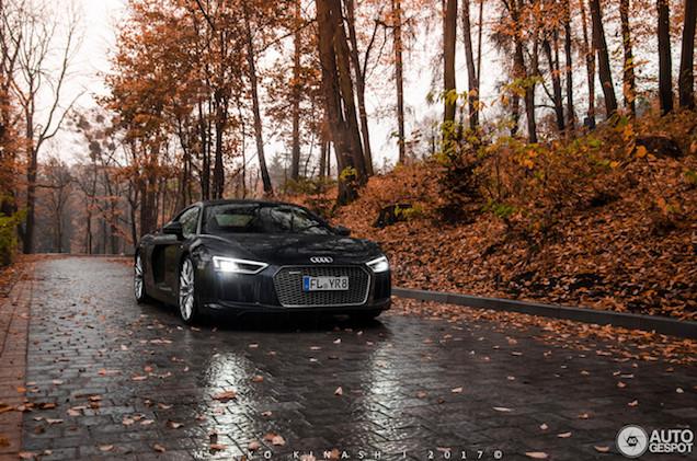 Fotoshoot: De regen in met de Audi R8