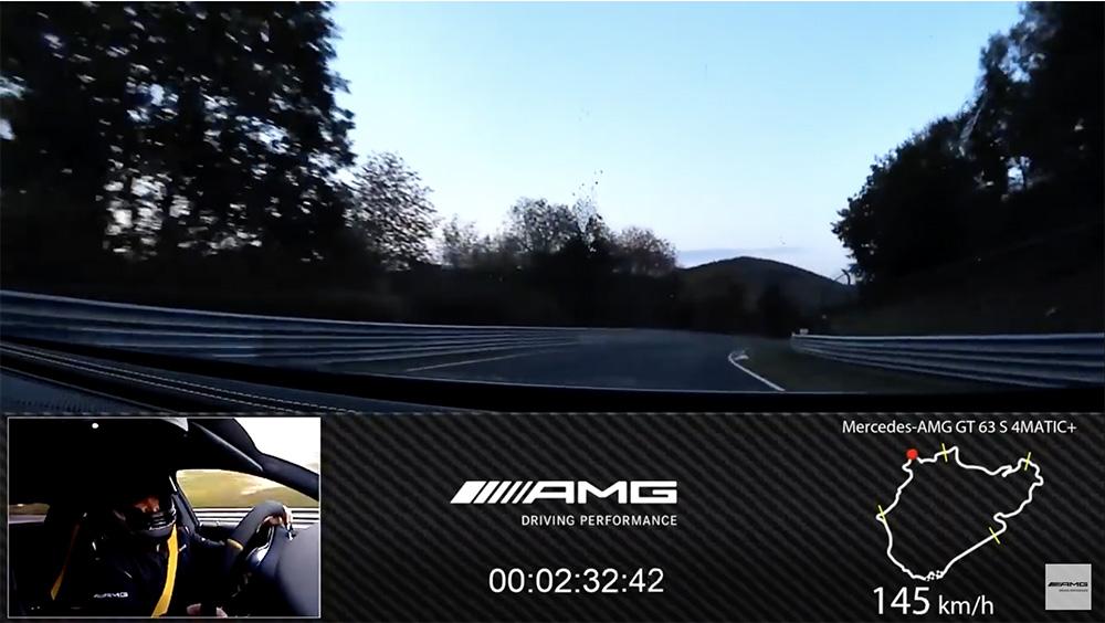 Mercedes-AMG GT 63 S laat Nürburgring record sneuvelen