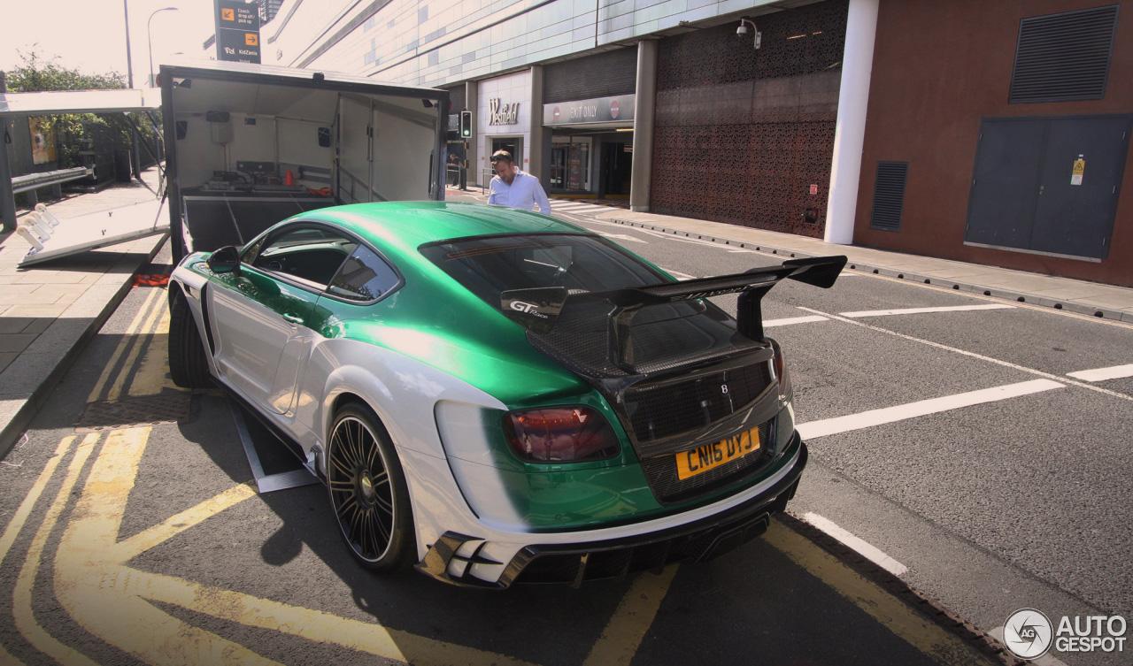 In comfort over het circuit: Bentley Mansory Continental GT Race