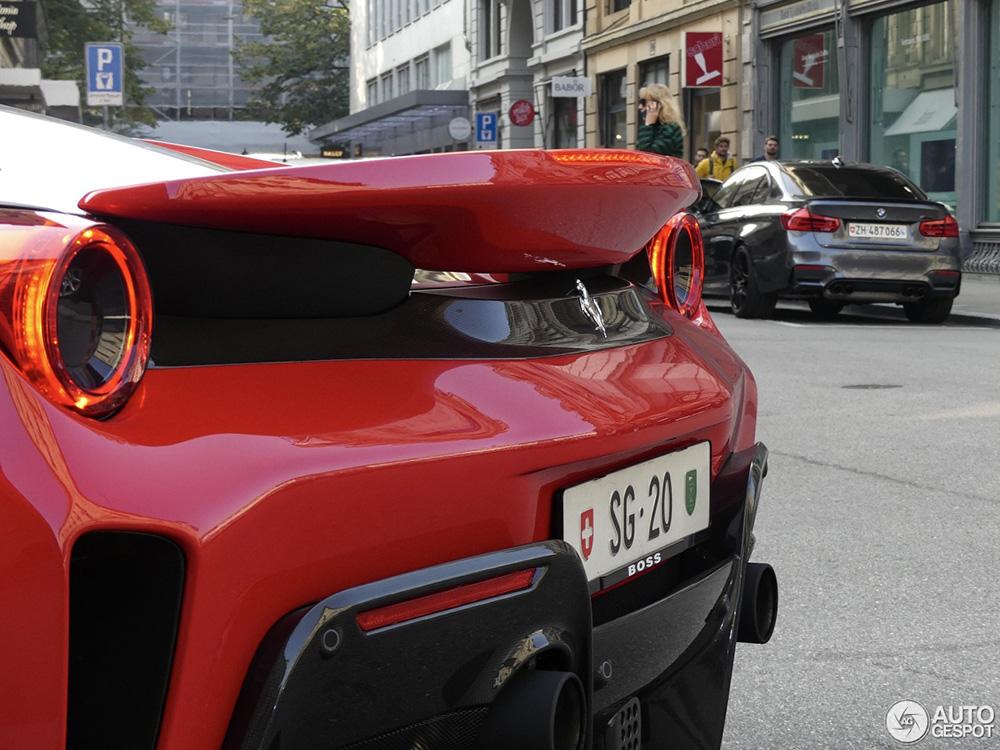 Zwitserland ook aan de Ferrari 488 Pista