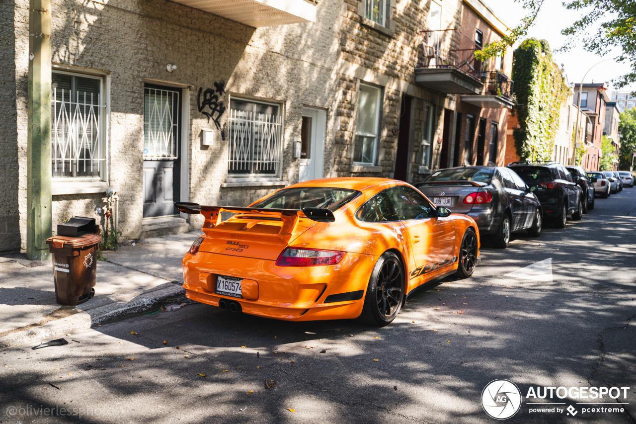 Oranje Porsche 997 GT3 RS blijft prachtig