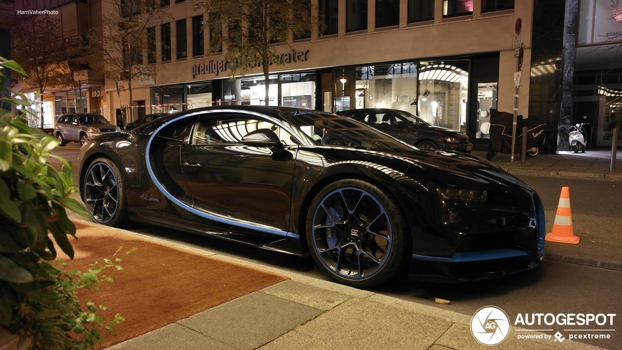 Bugatti's recordexemplaar doet Frankfurt aan