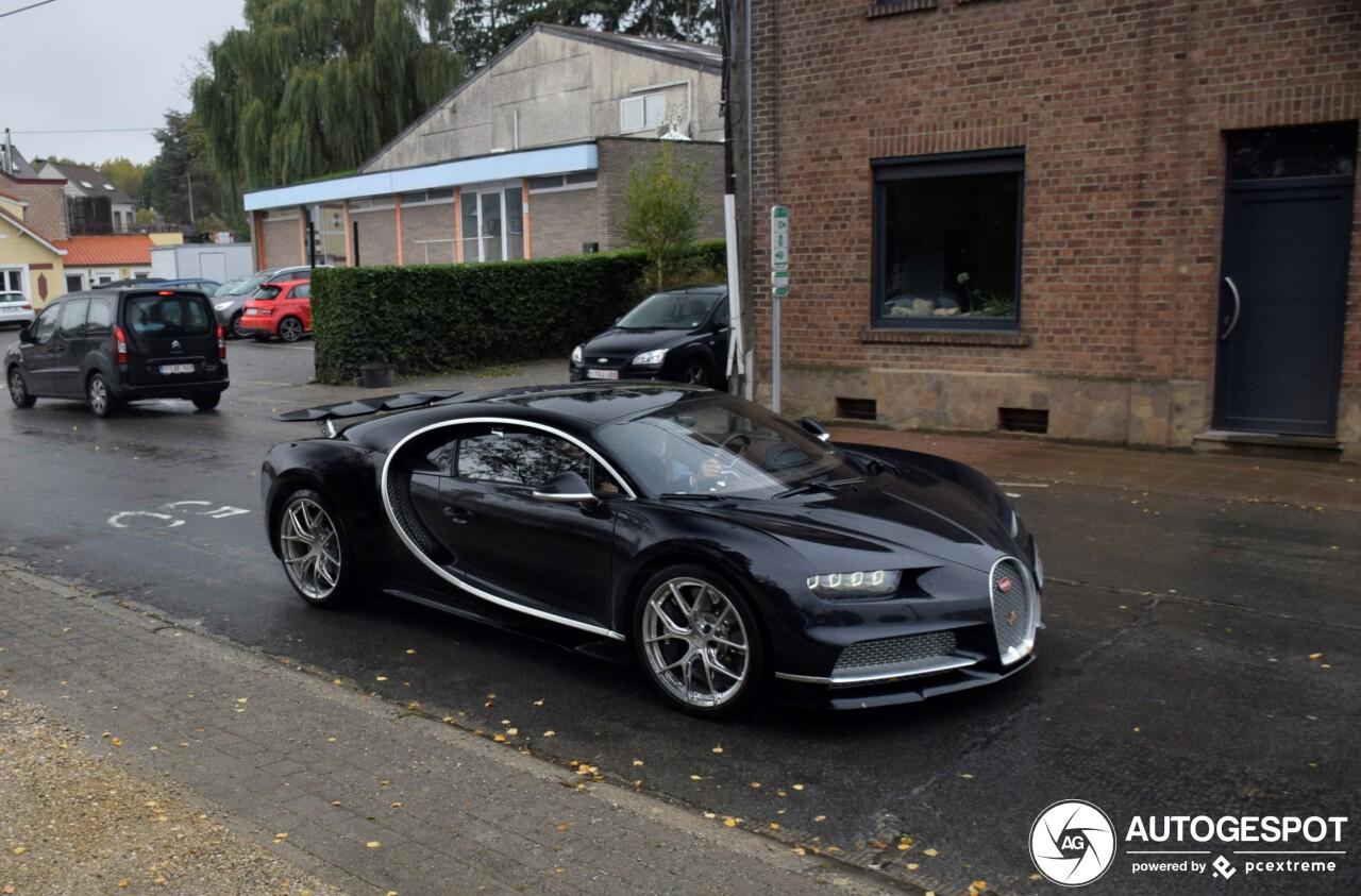 Bugatti Chiron Sport duikt op in Dion-le-Val
