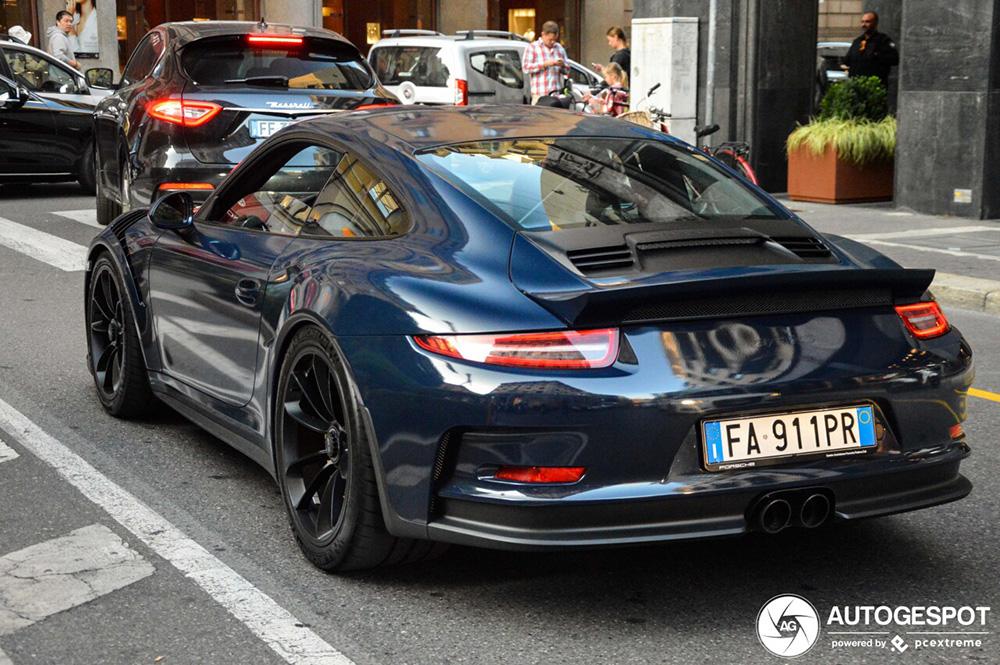 Porsche 991 GT3 RS kan ook zonder vleugel