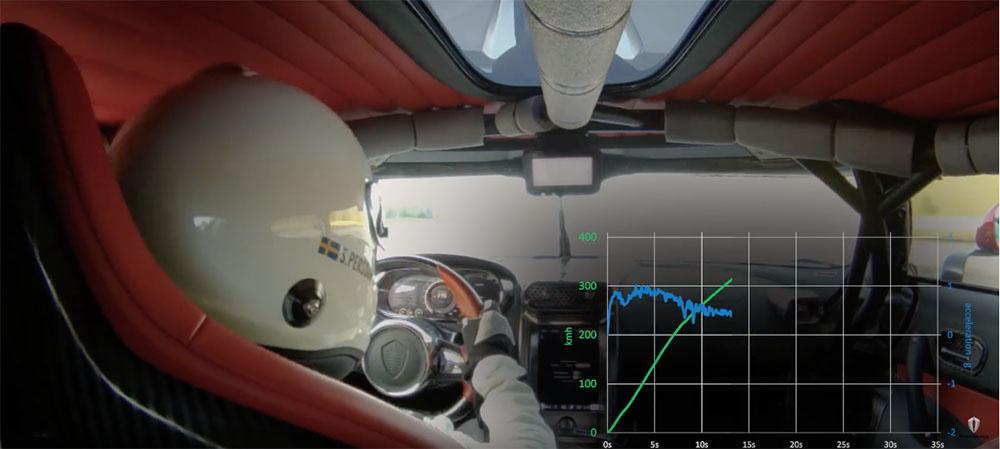 Filmpje: Koenigsegg laat record aan boord van de Regera zien