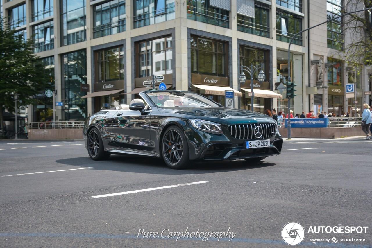 Groene Mercedes-AMG S 63 Cabriolet benadert de perfectie