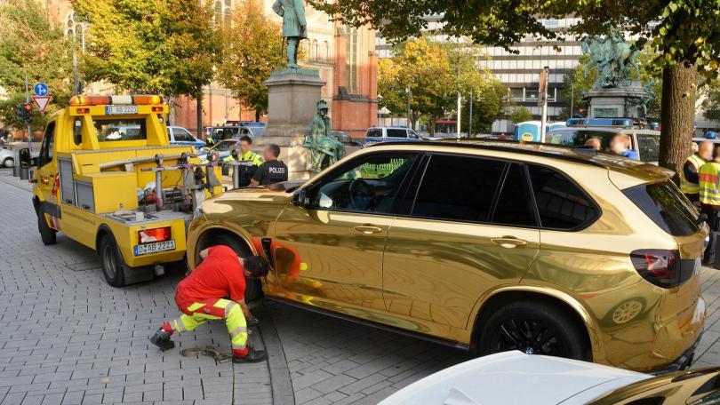 Gouden BMW Hamann X5 M in beslag genomen in Düsseldorf