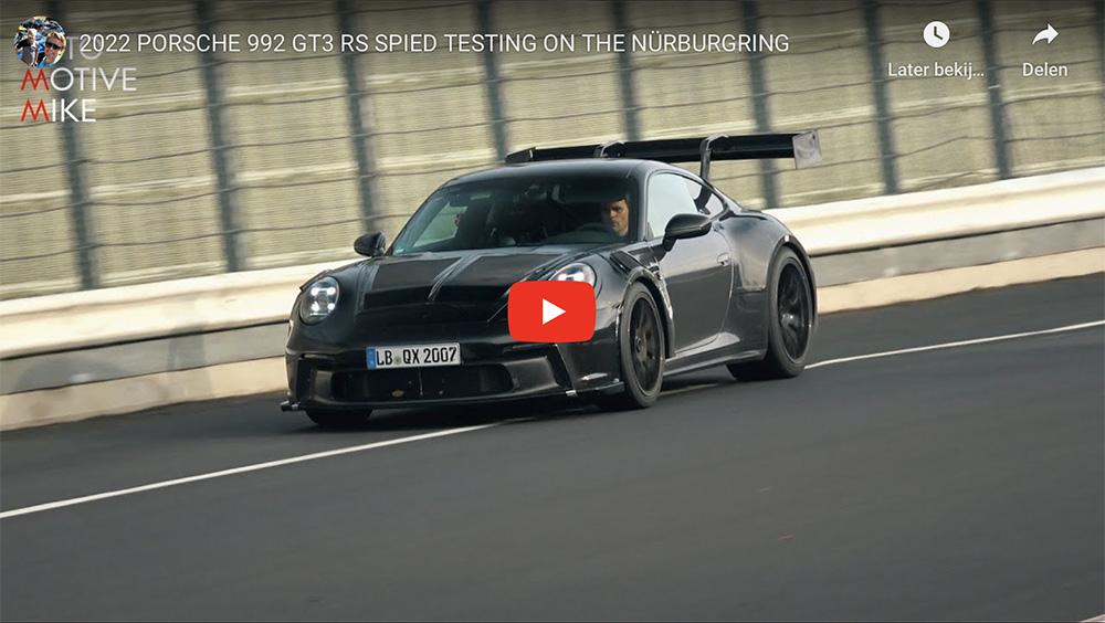 Porsche 992 GT3 RS wordt uitgelaten op de Nürburgring
