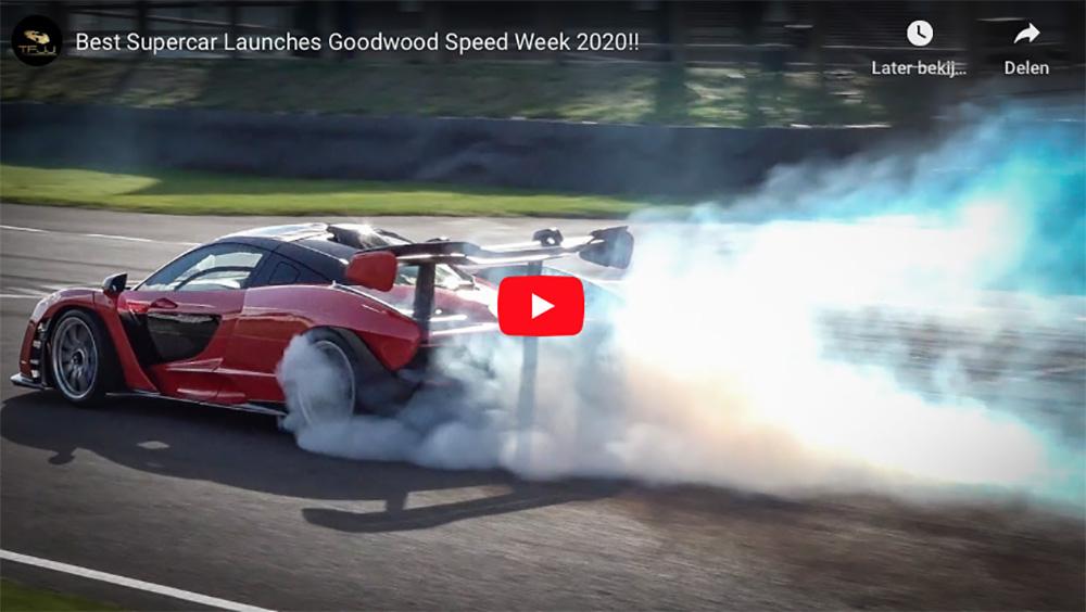 Supercars trekken rookgordijnen tijdens Goodwood Speedweek