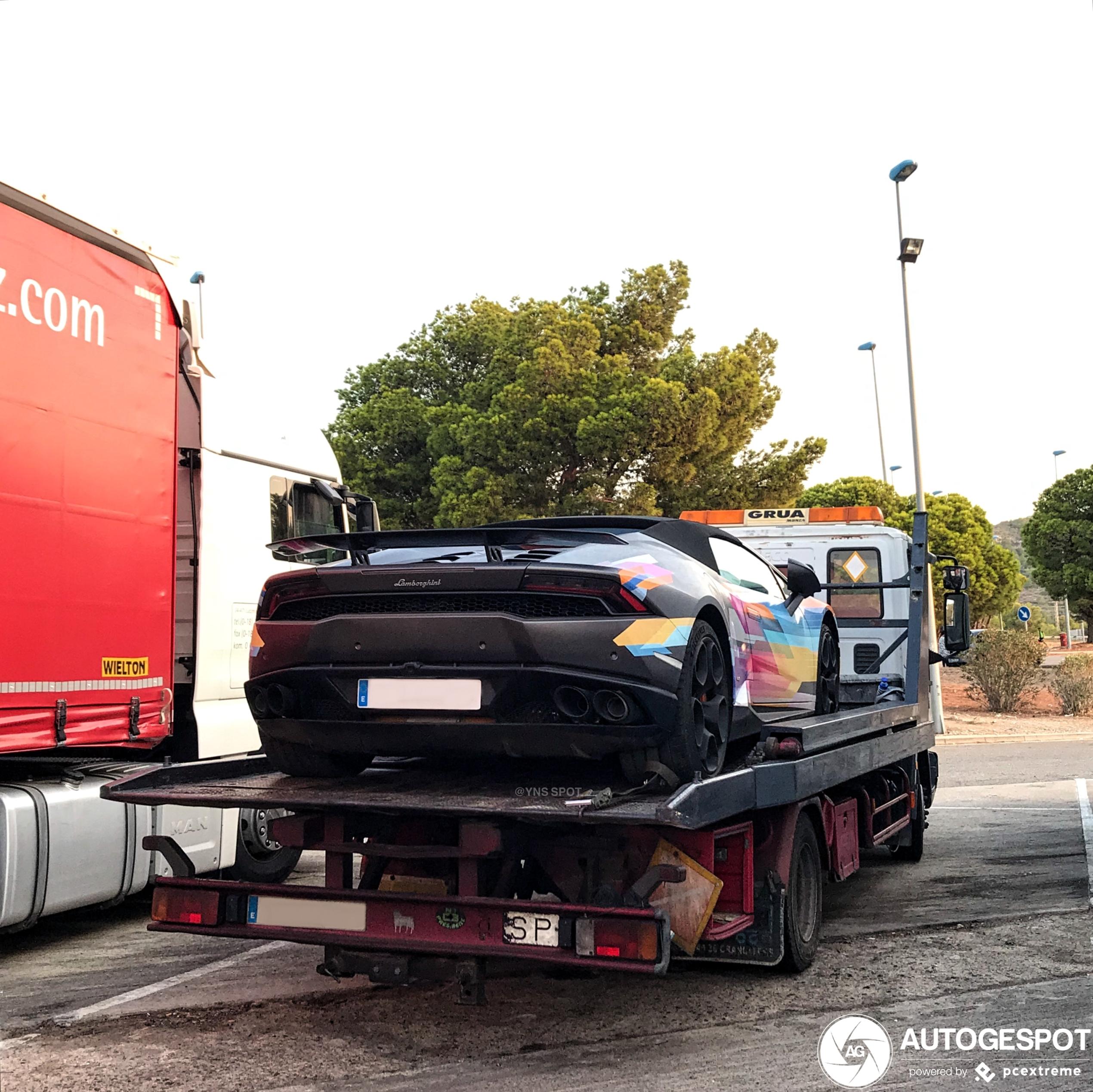 Lamborghini Huracán Spyder vrolijkt de dag op