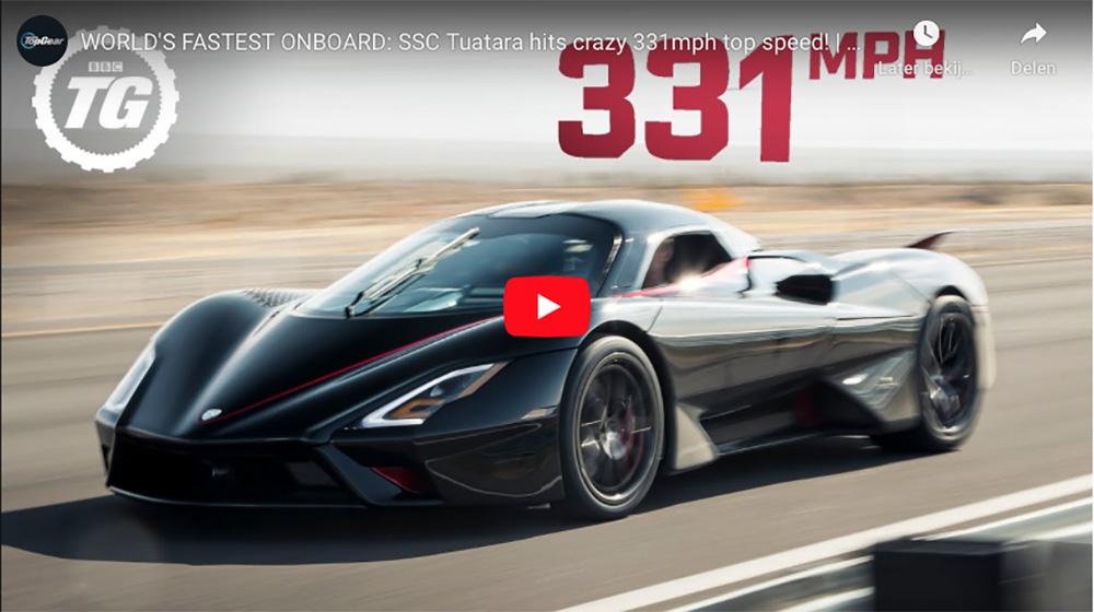 SSC Tuatara pakt het snelheidsrecord met 509 km/u!