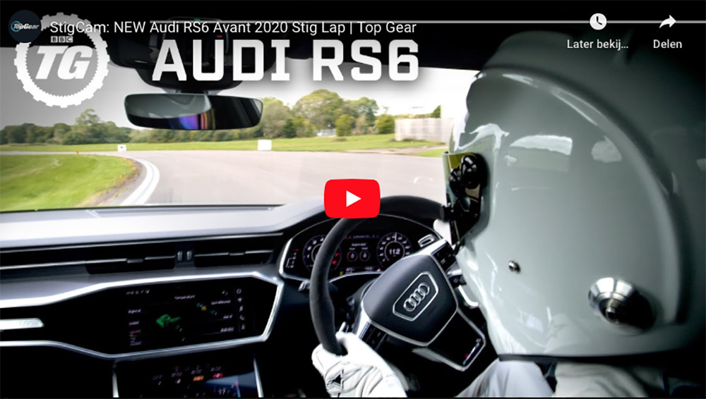 The Stig smijt Audi RS6 Avant over Top Gear Circuit