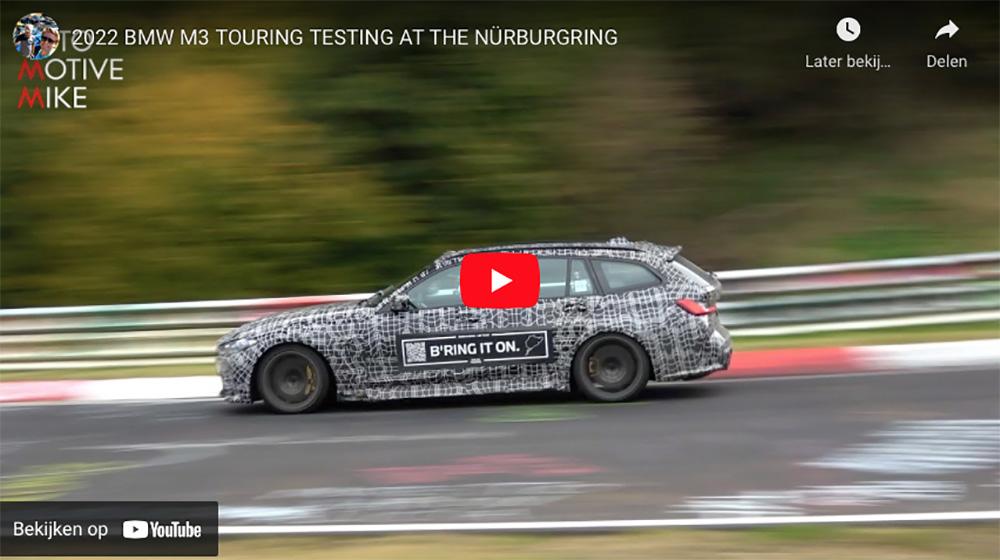 BMW M3 Touring wordt getest op de Nürburgring