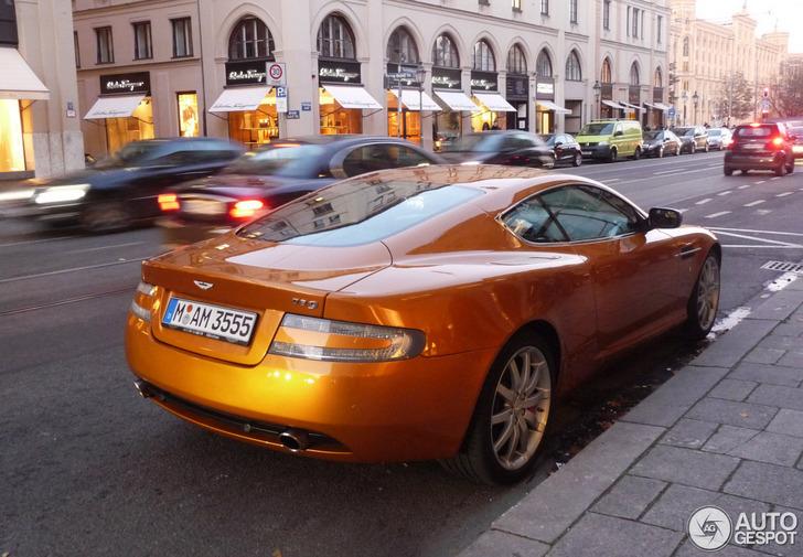 Spotted Madagascar Orange Aston Martin Db9 In Munich