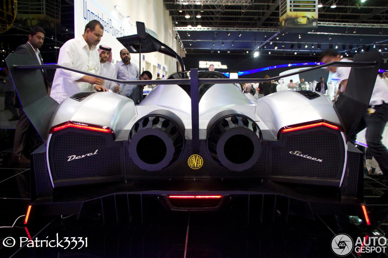 Devel Sixteen Devil 16 >> Dubai Motor Show 2013: Devel Sixteen