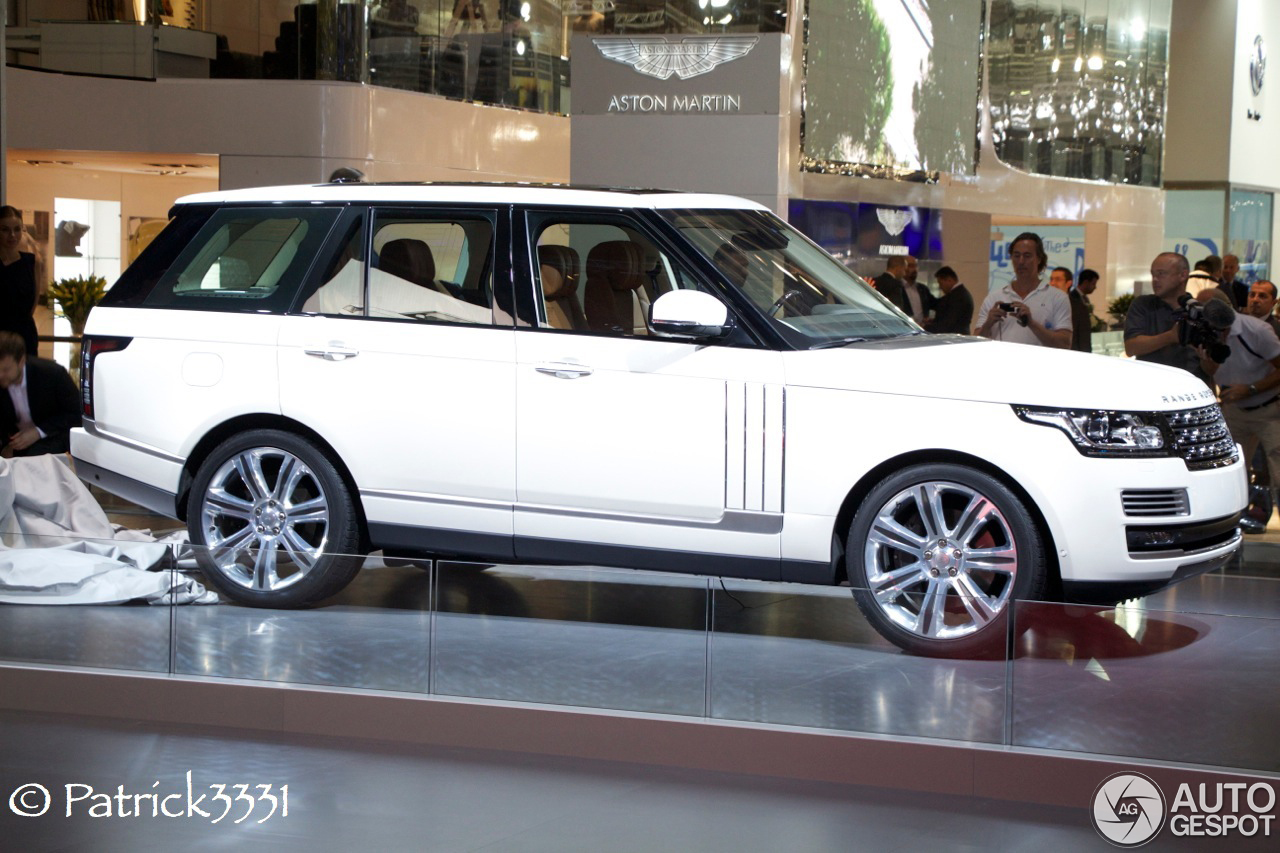 dubai motor show 2013 range rover long wheelbase. Black Bedroom Furniture Sets. Home Design Ideas