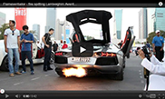 Lamborghini scuipa flacari in timpul Paradei din Dubai