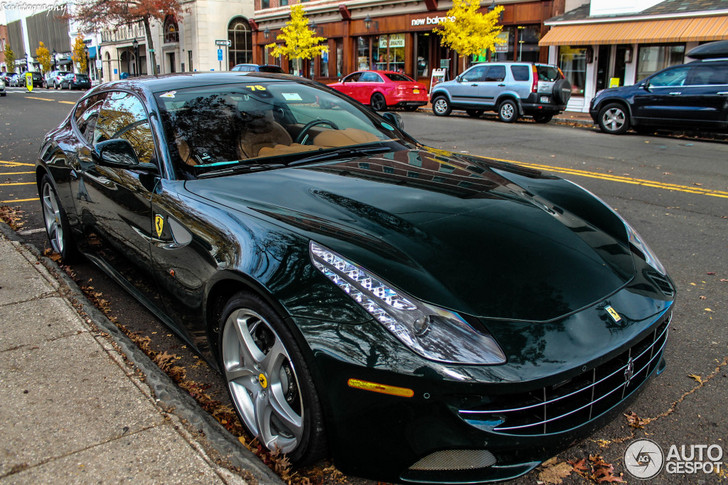 Dark Green Melts To The Body Of The Ferrari Ff Like A Second Skin