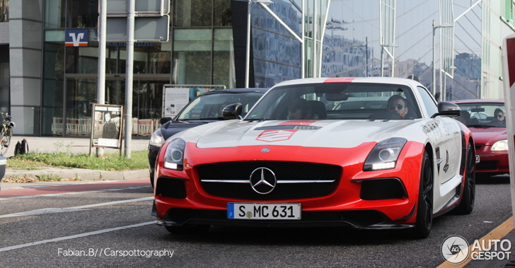 Mercedes-Benz SLS AMG Black Series is rijdende reclamezuil