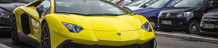 Bright yellow Aventador LP720-4 50° Anniversario perks up Warsaw