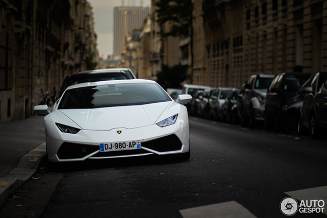Lamborghini Huracán LP610-4 fraai vastgelegd in Parijs