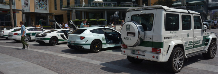 The Dubai Police Force loves to show off