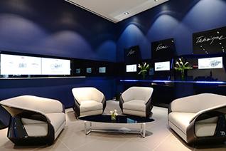 Bugatti toont nieuwe showroom design voor Chiron-klanten