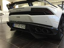 VOS Performance maakt carbon fiber diffuser voor Huracán LP610-4