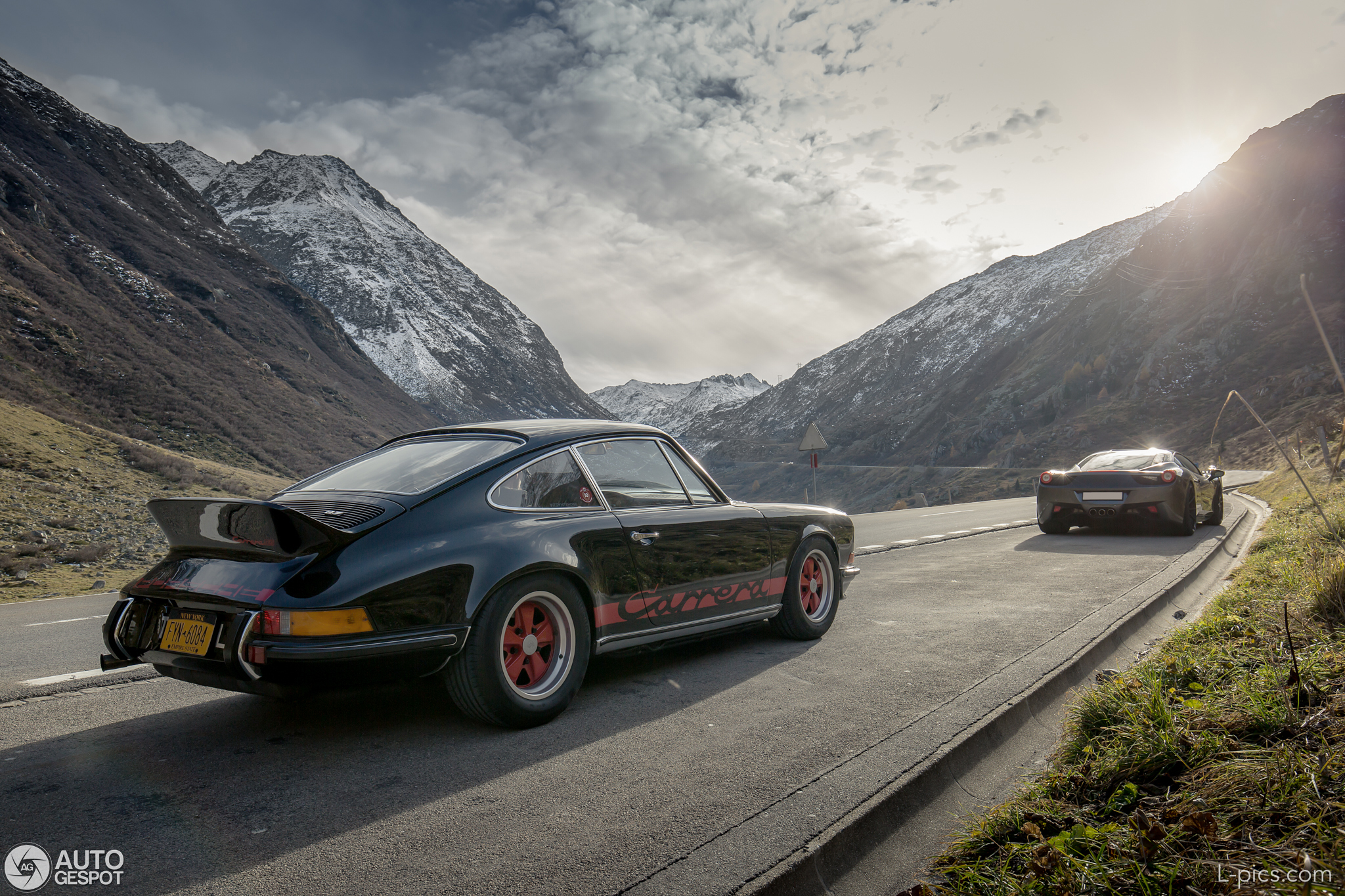 photography porsche 911 2 7 rs in the swiss alps. Black Bedroom Furniture Sets. Home Design Ideas