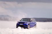Video: Silverstone aus Eis ist die Domäne des Range Rover SVR