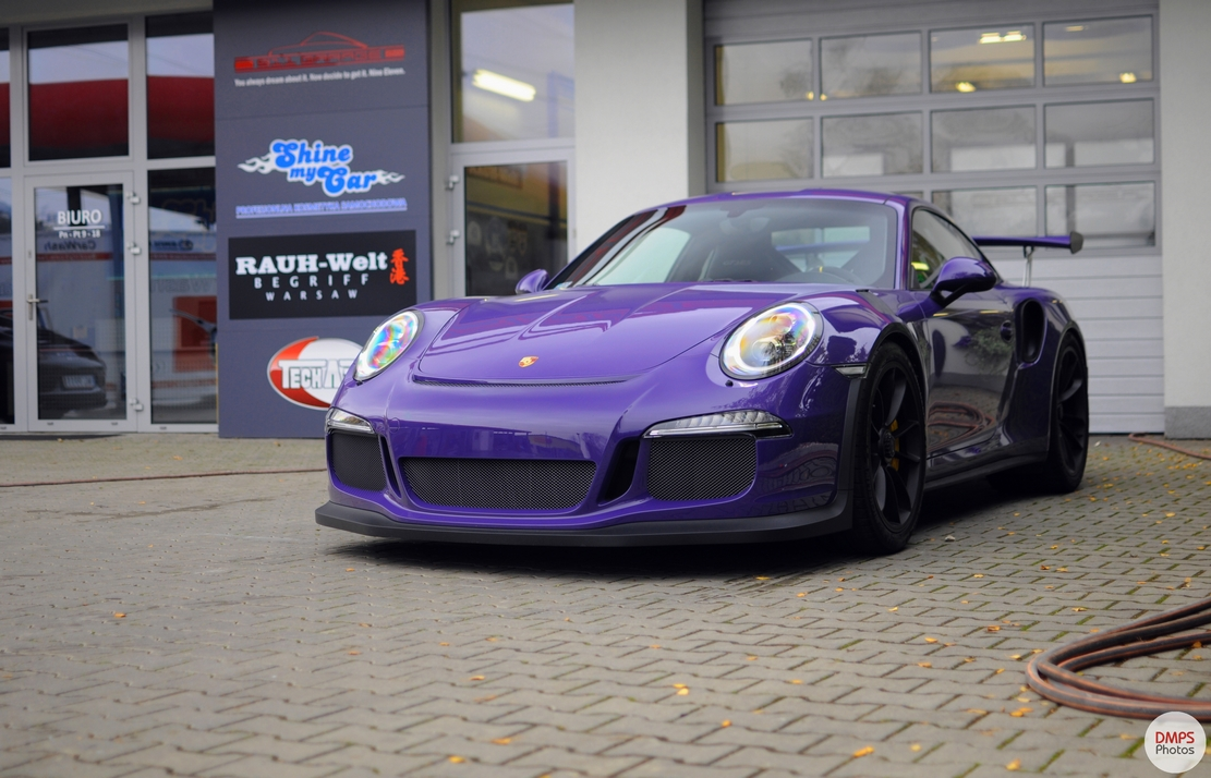 The First Ultraviolet Porsche 991 Gt3 Rs In Poland